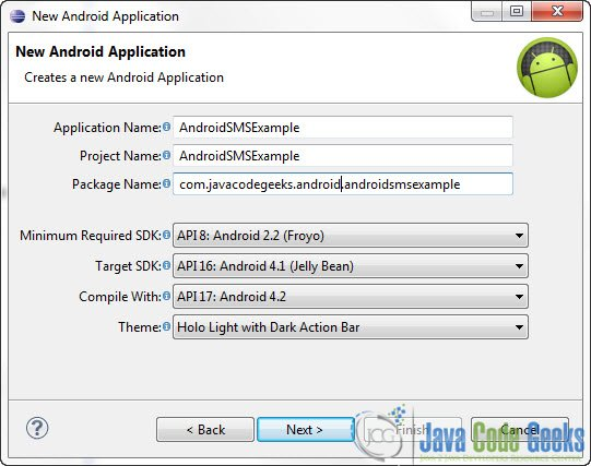 Android: How to send SMS message