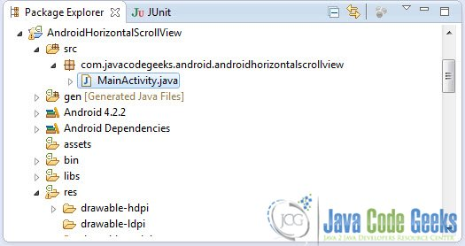 Android HorizontalScrollView Example   Examples Java Code Geeks - 2019