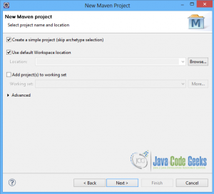 Spring JdbcTemplate - Maven-Project-Name-Location