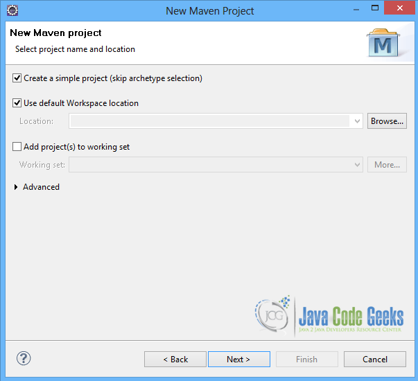 Maven-Project-Name-Location
