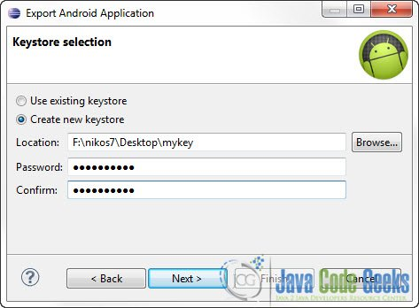 Build Android application package file (APK) using Eclipse IDE
