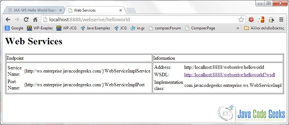 Jax Ws Hello World Example Rpc Style Examples Java Code Geeks 2018