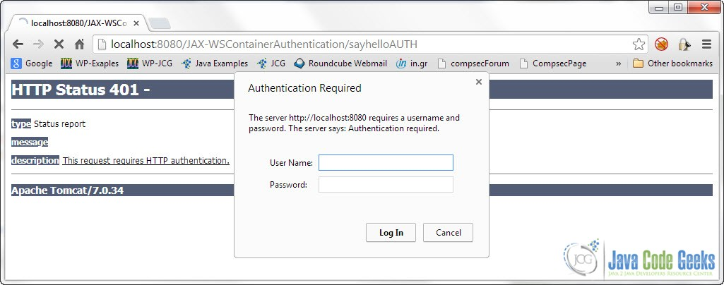 Container Authentication With JAX-WS | Examples Java Code Geeks - 2019