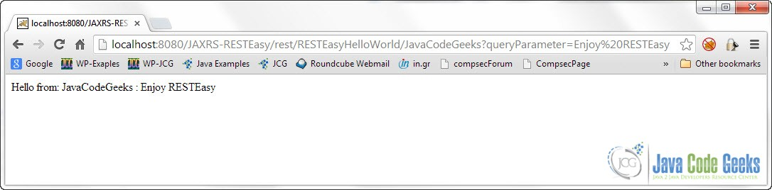 This Was A RESTEasy Hello World Example. Download The Eclipse Project Of  This Example : JAXRS RESTEasy.zip