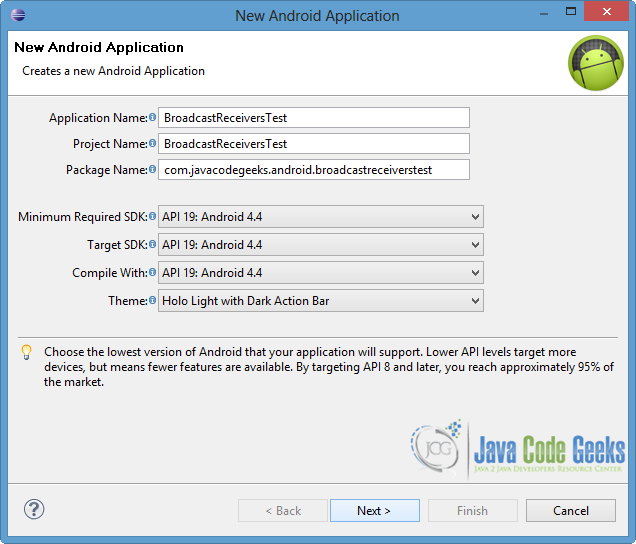 Android Broadcast Receivers Example | Examples Java Code