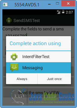 Android Sending SMS Example | Examples Java Code Geeks - 2019
