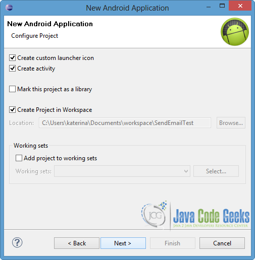 Android Sending Email Example | Examples Java Code Geeks - 2019