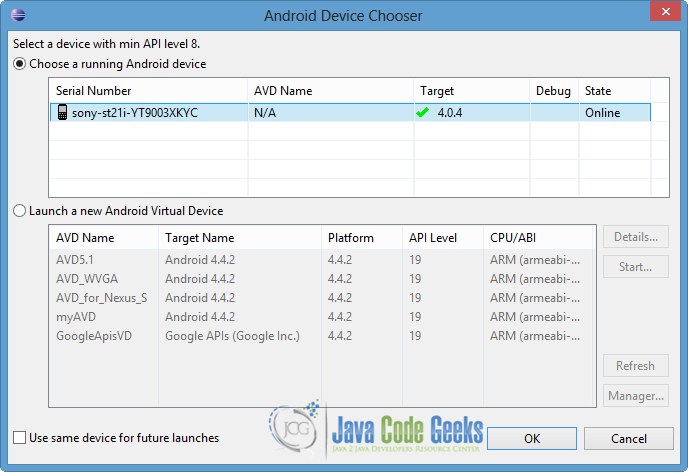 Android Bluetooth Example | Examples Java Code Geeks - 2019