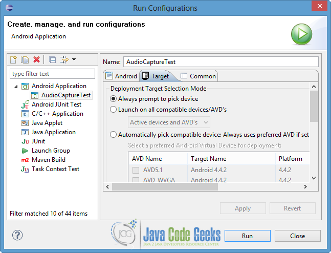 Android Audio Capture Example | Examples Java Code Geeks - 2019
