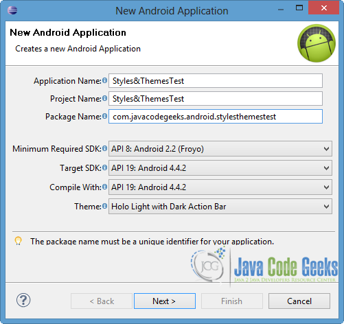 Android Styles and Themes Example | Examples Java Code Geeks