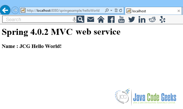 this was a spring mvc hello world example download the eclipse project of this tutorialspringmvchelloworldexample