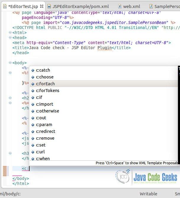 Eclipse JSP Editor Example | Examples Java Code Geeks - 2019