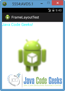 Figure 7: The Android app is loaded