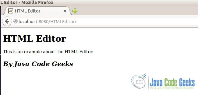 HTML Editor - Browser Output