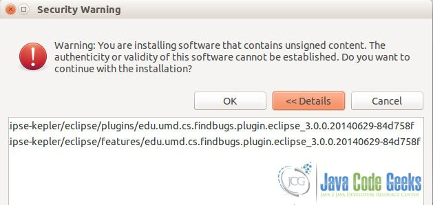Eclipse Security Warning