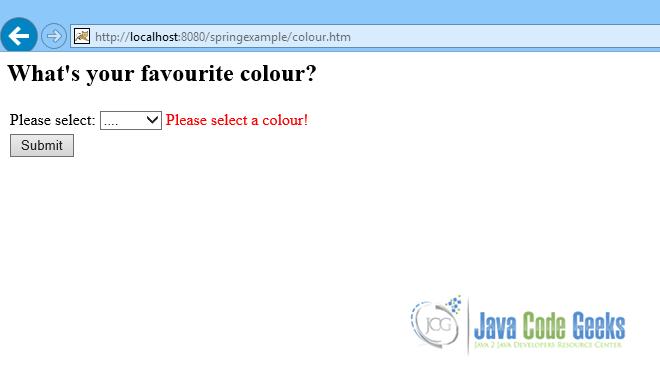Spring MVC Dropdown Box Example | Examples Java Code Geeks - 2019
