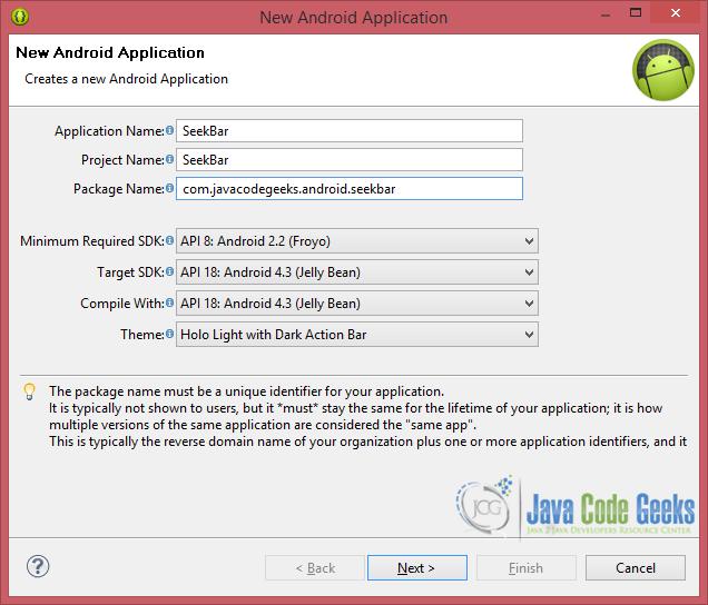 Android SeekBar Example | Examples Java Code Geeks - 2019