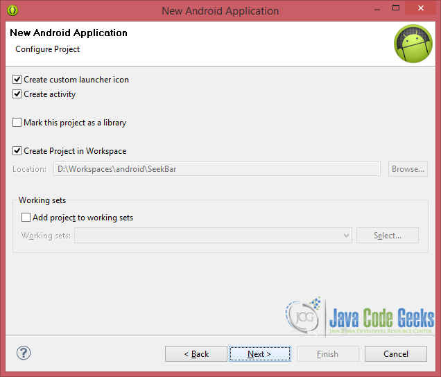 Android SeekBar Example   Examples Java Code Geeks - 2019