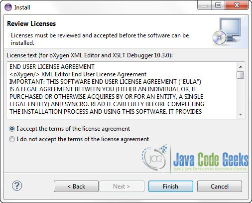Figure 5 : Accept the Licence Agreement