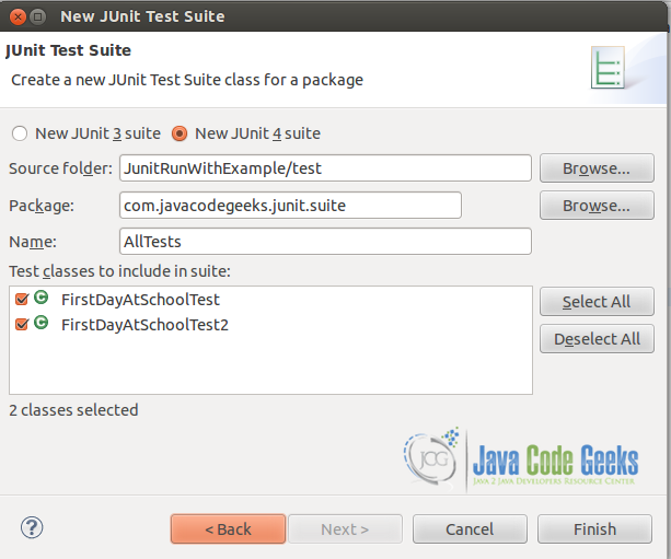 Figure 5: Create a test suite.