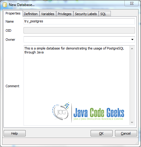 Java PostgreSQL Example | Examples Java Code Geeks - 2019