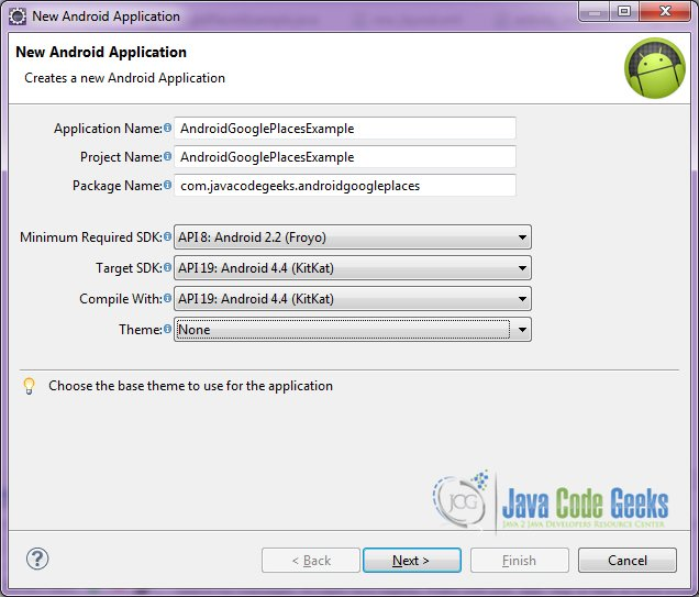 Android Google Places API Example | Examples Java Code Geeks