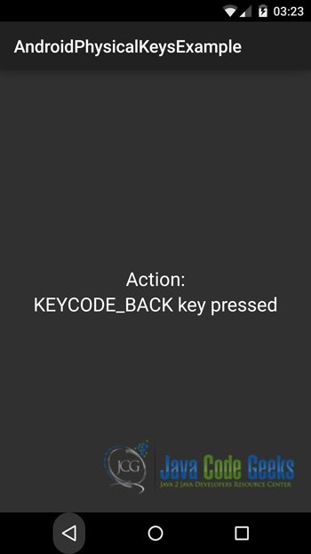 Android Physical Keys Example   Examples Java Code Geeks - 2019