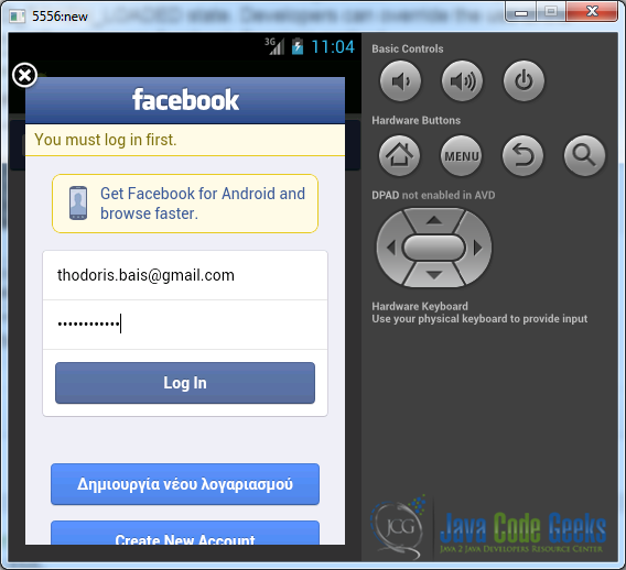 Android Facebook Login Example | Examples Java Code Geeks - 2019