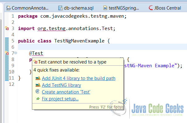 TestNG Maven Project Example | Examples Java Code Geeks - 2019