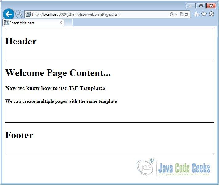 template jsf gratuit