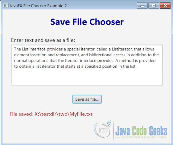 JavaFX FileChooser Example | Examples Java Code Geeks - 2019