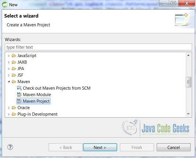 Eclipse new Project Wizard