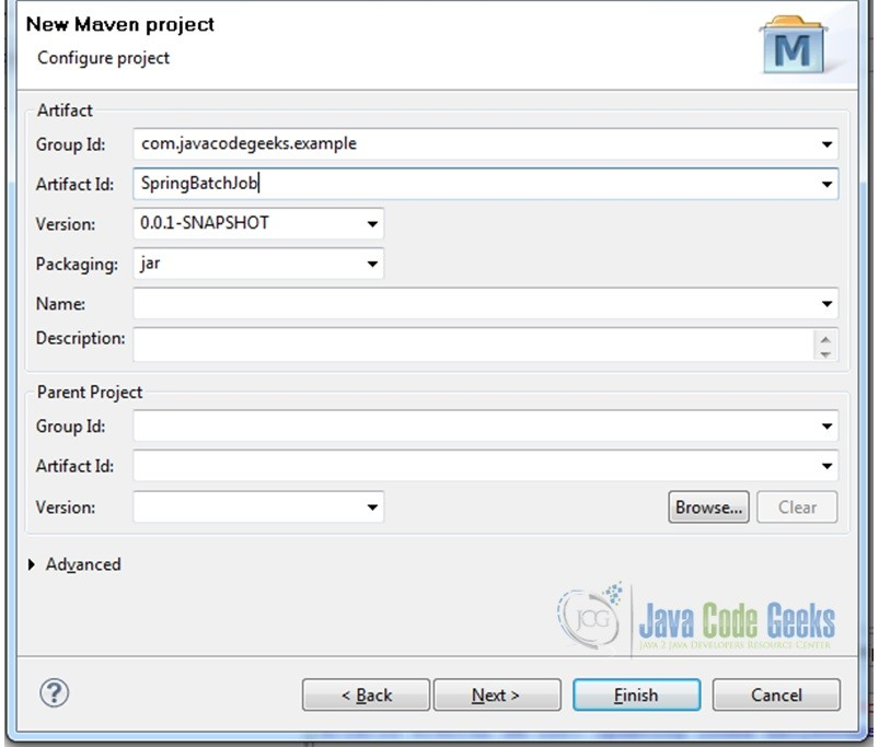 Fig.3 Create Maven Project
