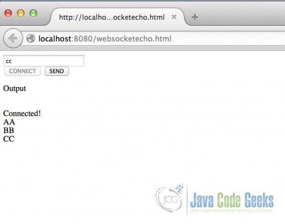 Jetty WebSocket Example | Examples Java Code Geeks - 2019