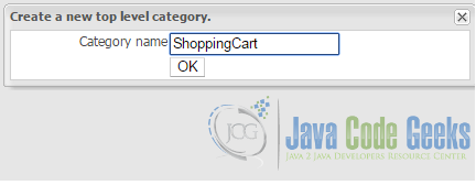 Create new category 'ShoppingCart'