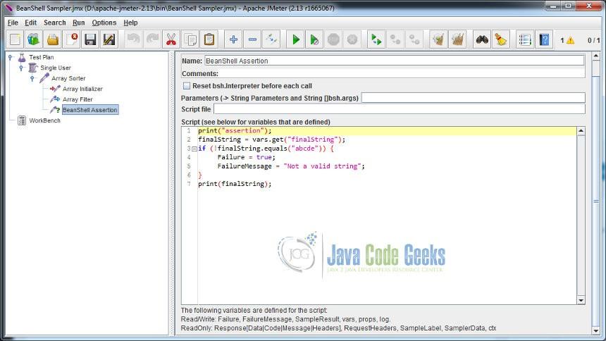 JMeter BeanShell Example | Examples Java Code Geeks - 2019