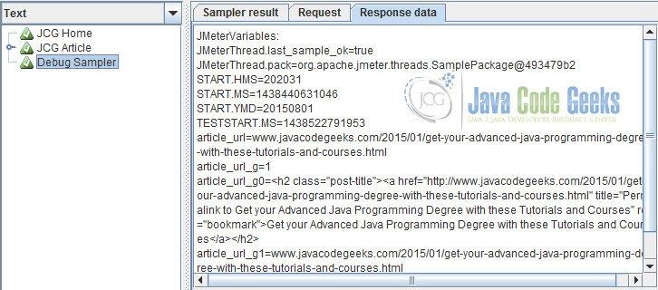 JMeter Regular Expression Extractor Example | Examples Java