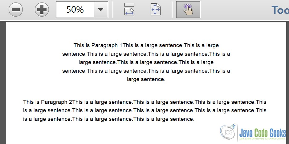 Fig 6 : Paragraph Example