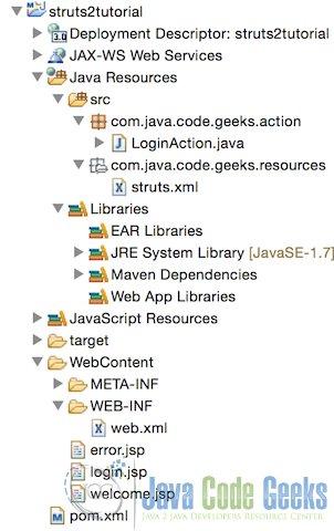Struts tutorial for beginners | Examples Java Code Geeks - 2019