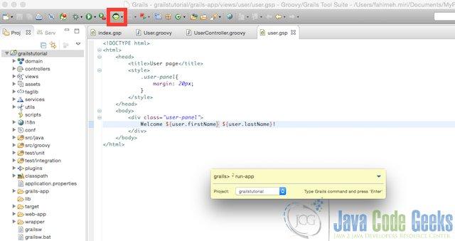 Grails tutorial for beginners | Examples Java Code Geeks - 2016