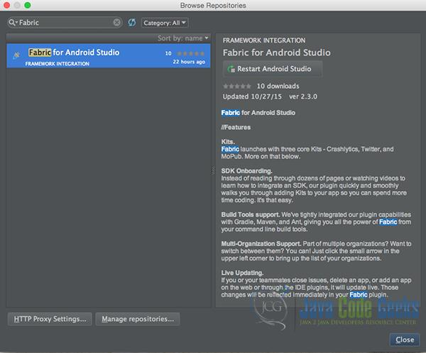 Android Fabric Crashlytics Integration | Examples Java Code