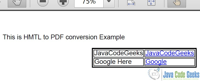 iText HTML to PDF Example | Examples Java Code Geeks - 2019