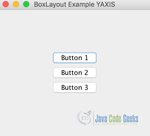 BoxLayout Example on YAXIS