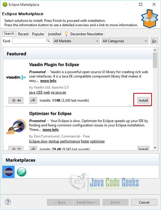 How to Install and Use the Eclipse Marketplace Plugin