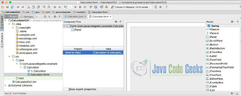 IntelliJ GUI Designer Example | Examples Java Code Geeks - 2019