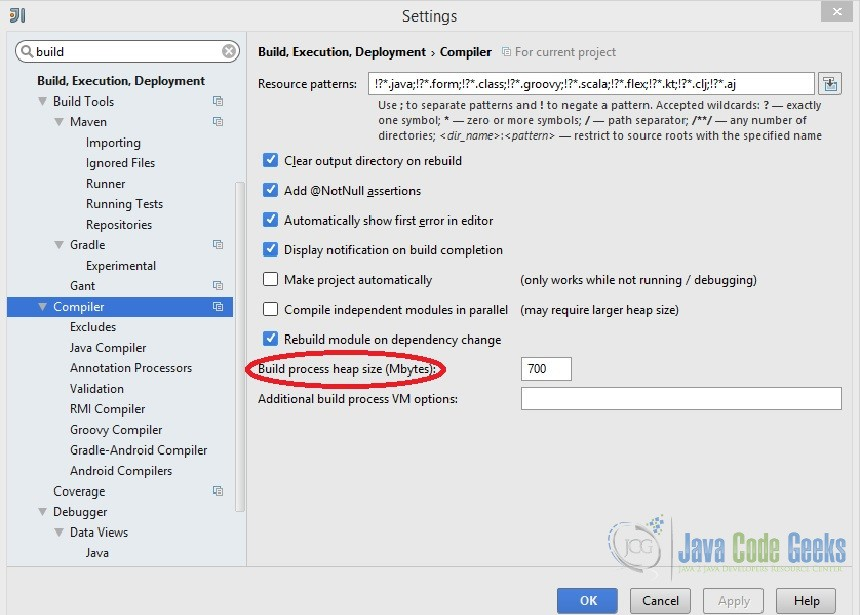 IntelliJ Increase Memory Settings | Examples Java Code Geeks