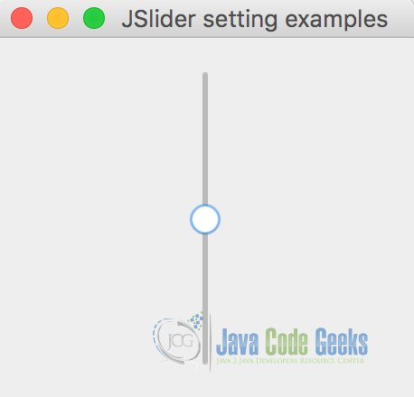 Java Swing Slider example | Examples Java Code Geeks - 2019