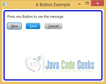 A JavaFX Button Example