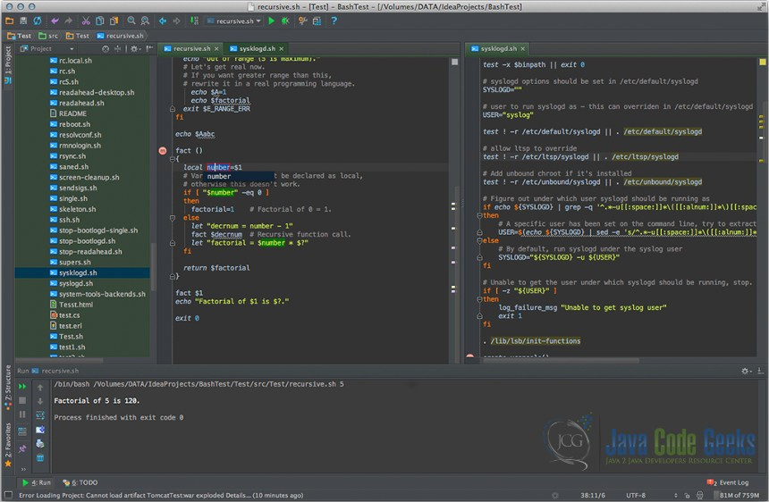 BashSupport Intellij Plugin