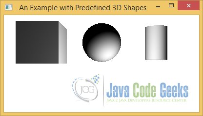 Using Predefined 3D Shapes
